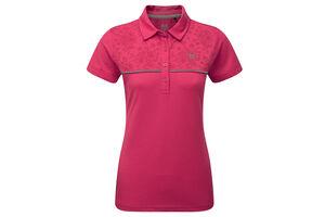 Palm Grove Floral Ladies Polo Shirt