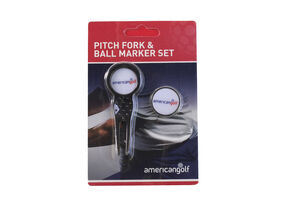 American Golf Pitch Fork Ball Marker Set