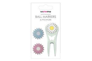 SurprizeShop Ladies Daisy Ball Marker Pitchfork Set