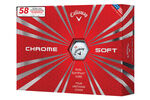 "Callaway Golf LE Chrome Soft ""58"" 12 Ball Pack"