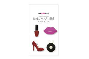 SurprizeShop Girly Glam Ball Marker Visor Clip Set