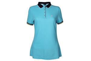 Palm Grove Ribbed Trim Ladies Polo Shirt
