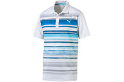 PUMA Golf Washed Stripe Polo Shirt