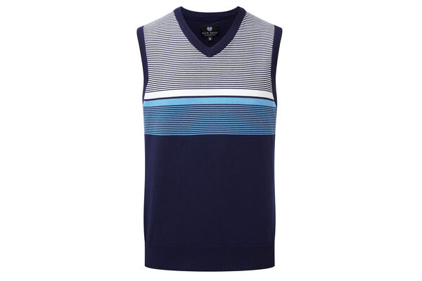 Palm Grove Knit Stripe Vest