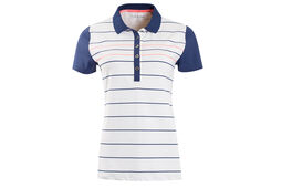 Calvin Klein Striped Ladies Polo Shirt