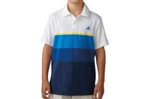 adidas Golf Engineered Stripe Junior Polo Shirt