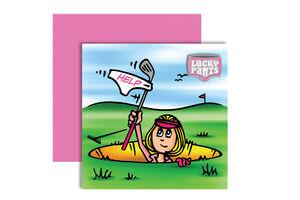 SurprizeShop Betty Bunker Ball Marker Card