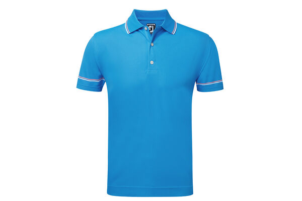 FootJoy Smooth Pique Sleeve Stripe Polo Shirt