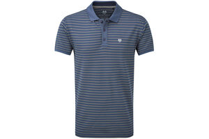 Palm Grove Striped Polo Shirt