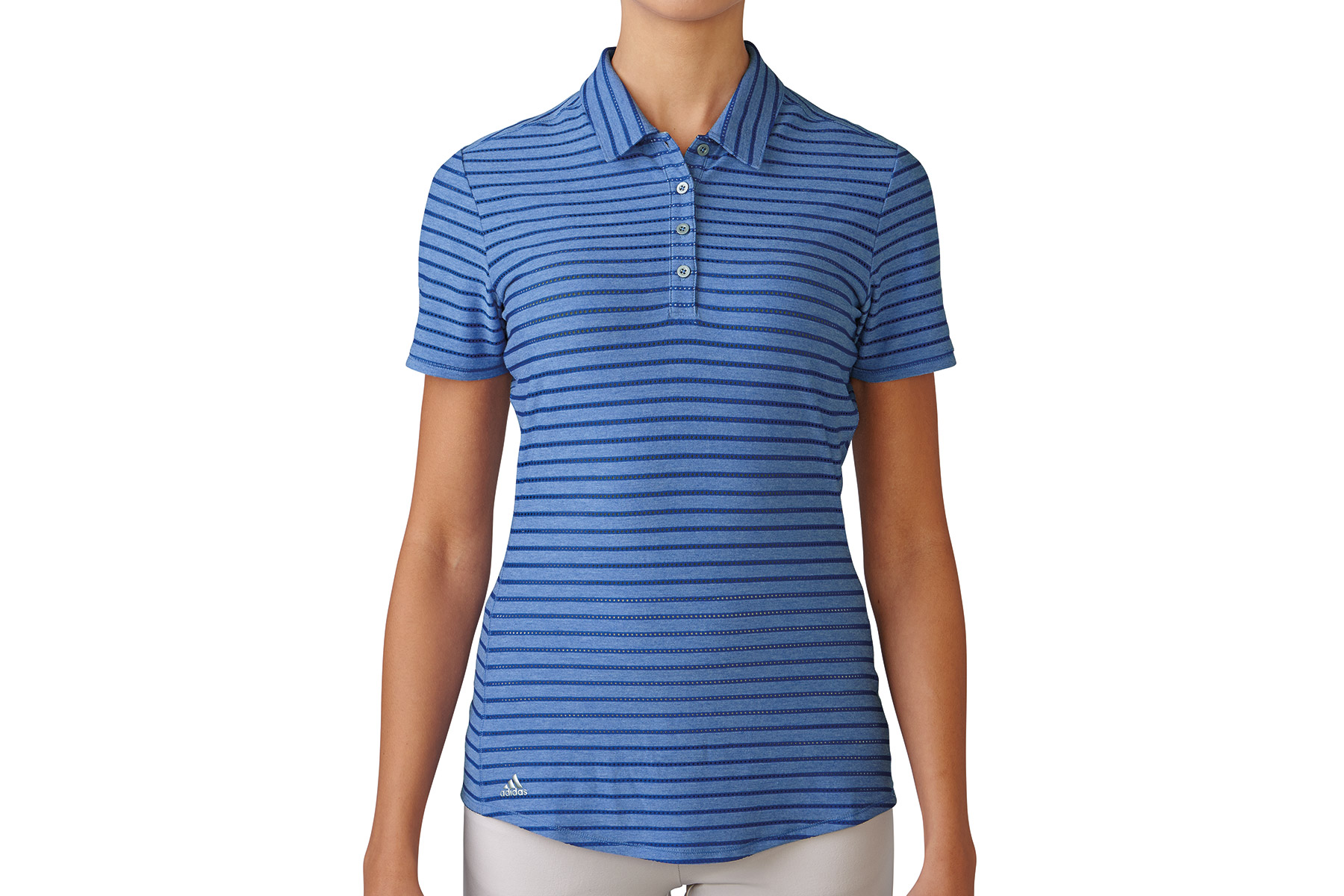 Adidas Golf Cotton Stripe Ladies Polo Shirt From American Golf