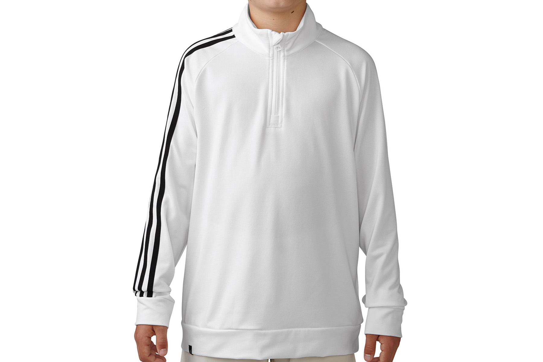 Adidas golf 3 stripes 1 4 zip junior windtop from american for Housse zip collection captur