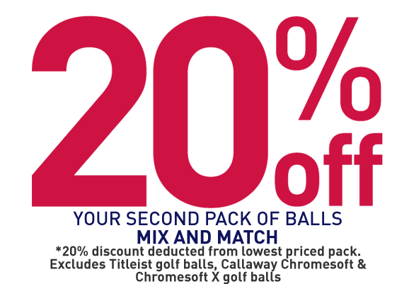 20% Off Your Second Pack Of Balls
