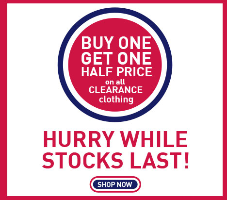 Buy One Get One Half Price on Clearance Clothing