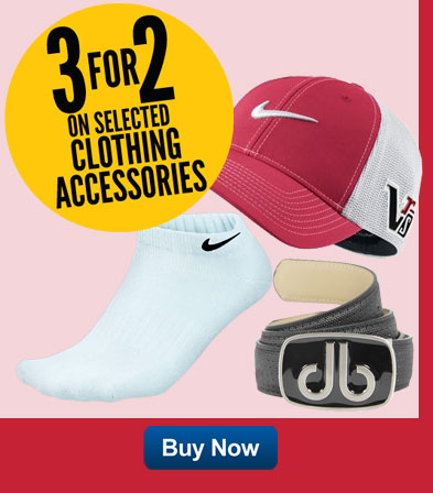 3 For 2 on selected clothing accessories