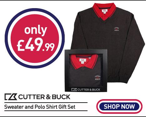 Cutter & Buck Sweater and Polo Shirt Gift Set