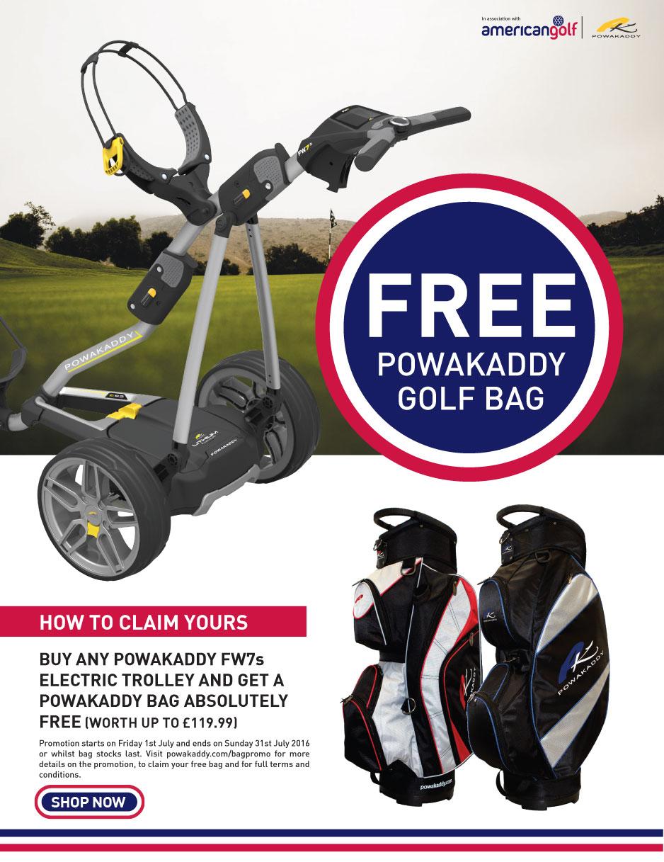 Powakaddy Free Bag Promotion