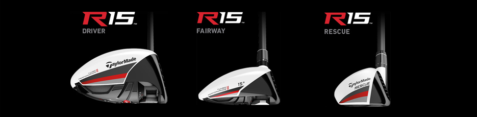 TaylorMade R15 Family Toe - Driver, Fairway, Rescue