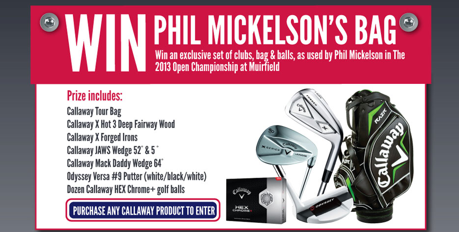Win Phil Mickelson's Bag