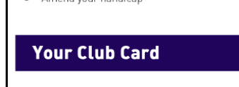 Your Club Card