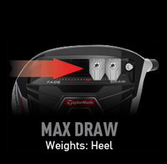 TaylorMade R15 Weight Alignment - Max Draw