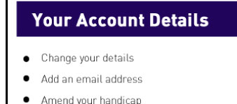 Your Account Details