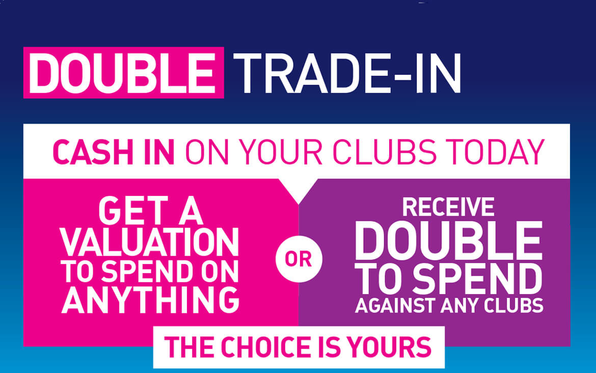 American Golf Double Trade-In Page Header