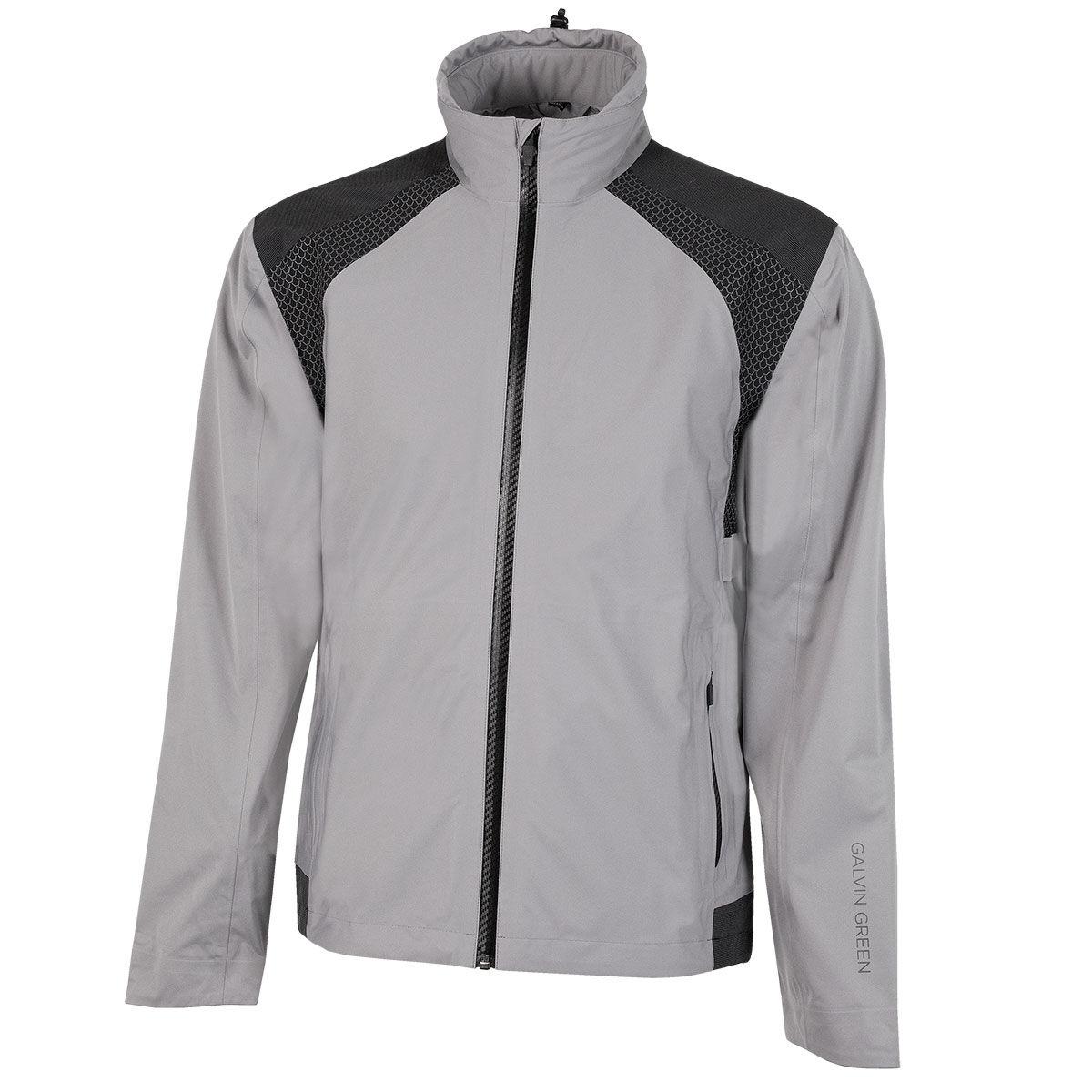 Galvin Green Action Waterproof Golf Jacket, Mens, Small, Sharkskin/black   American Golf