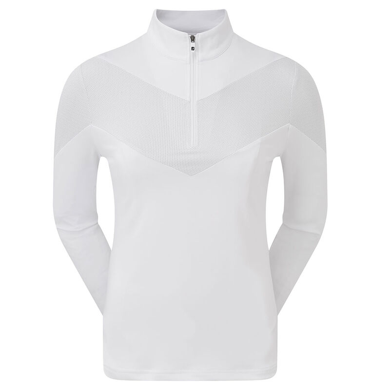FootJoy Engineered Jersey Ladies 12 Zip Windtop Female White XL