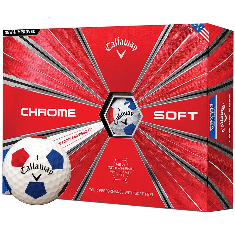 Callaway Golf Chrome Soft Truvis 12 Ball Pack Male WhiteRedBlue