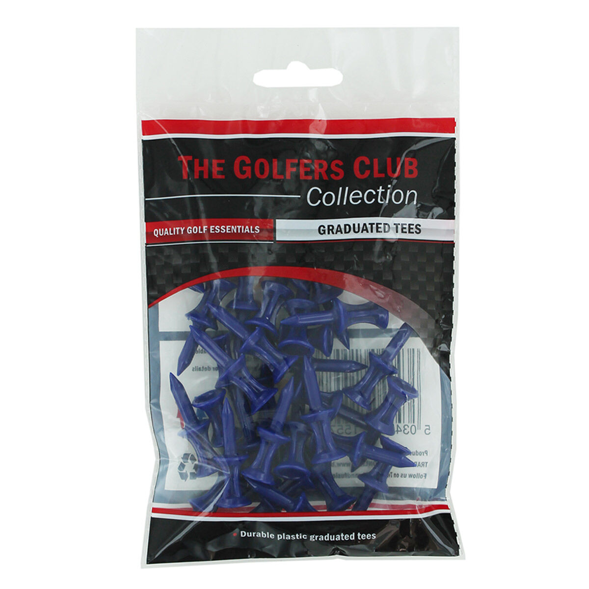 The Golfers Club Mens Blue Pack of 30 Step Height Golf Tees, Size: 18mm | American Golf
