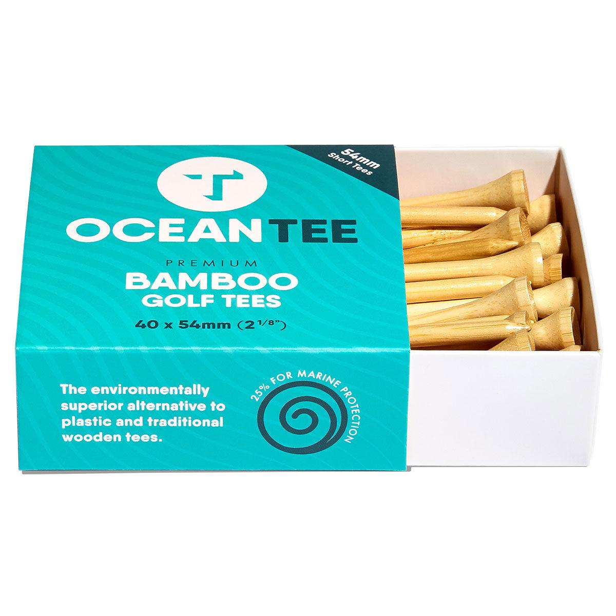 Ocean Tee Brown Pack of 40 Bamboo Tees, Size: 54mm | American Golf
