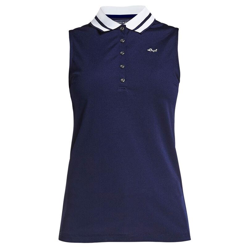Röhnisch Pim Sleeveless Ladies Polo Shirt Female Night Indigo Small