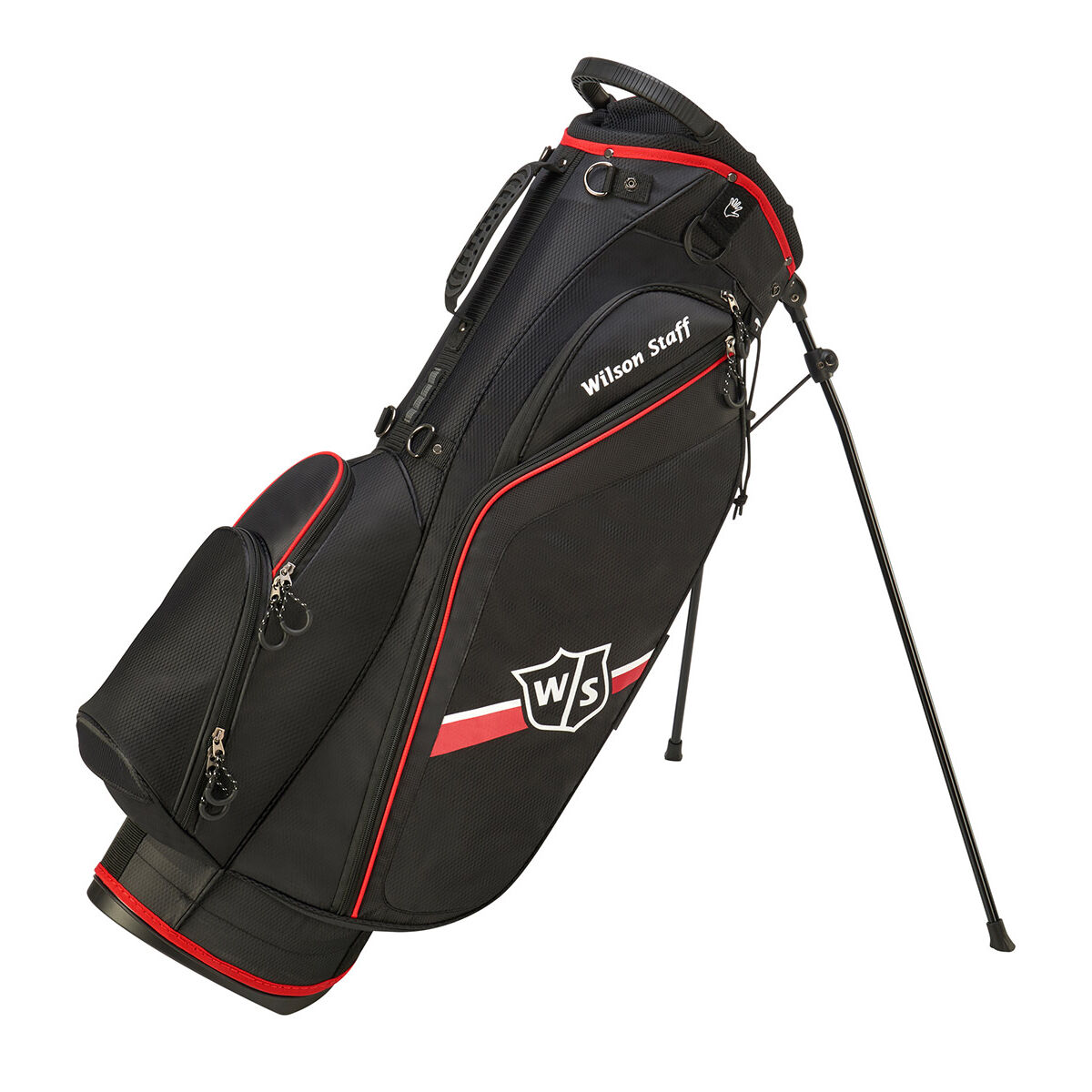 Wilson Staff Black and Red Lightweight Lite II Golf Stand Bag, Size: One Size | American Golf