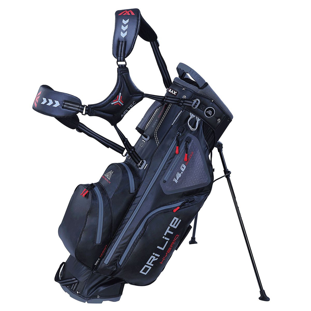 BIG MAX DRI LITE Hybrid Golf Stand Bag, Black | American Golf