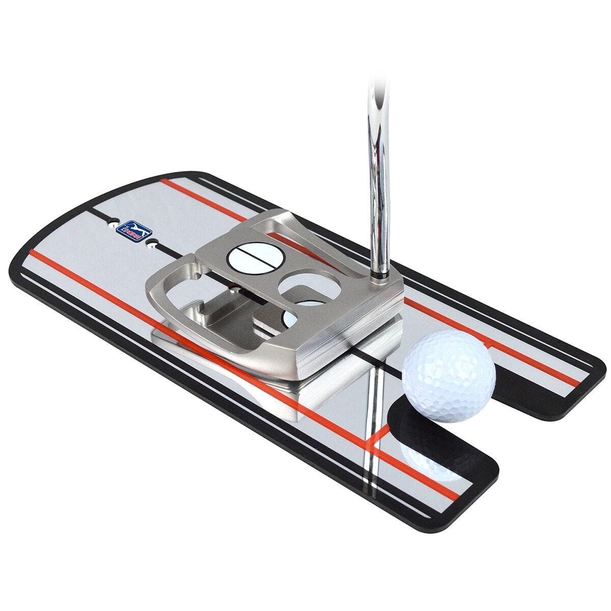 PGA Tour Silver and Black 4-Sight Pro Putting Alignment Golf Mirror, Size: 40x15.5x0.3cm | American Golf | American Golf