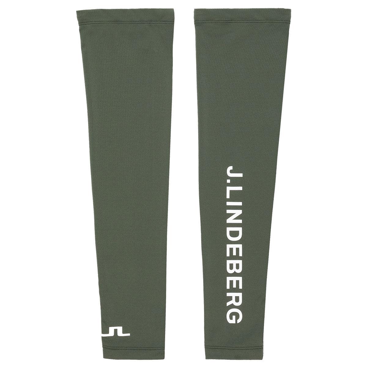 J.Lindeberg J. Lindeberg Mens Green Logo Print Enzo Golf Compression Sleeves | American Golf, L/XL | American Golf
