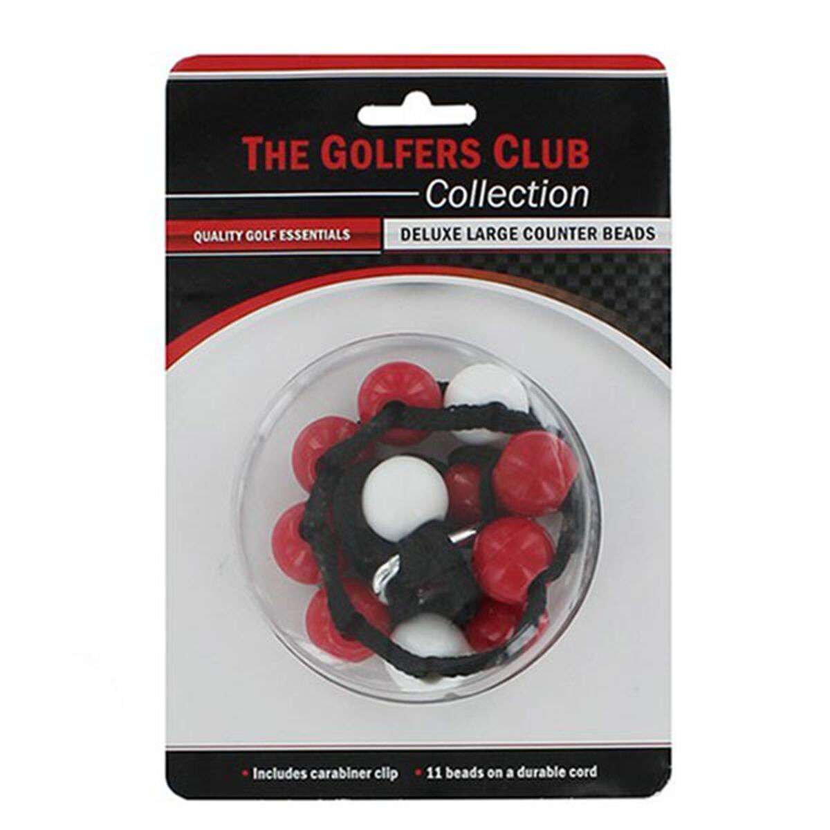 The Golfers Club Deluxe Large Counter Beads, Male, Red/white, One size | American Golf