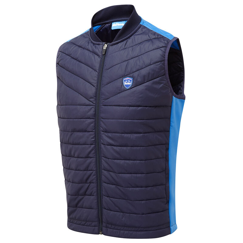 Bunker Mentality Puffer Caddy Kai Gilet Male Navy Blue XL