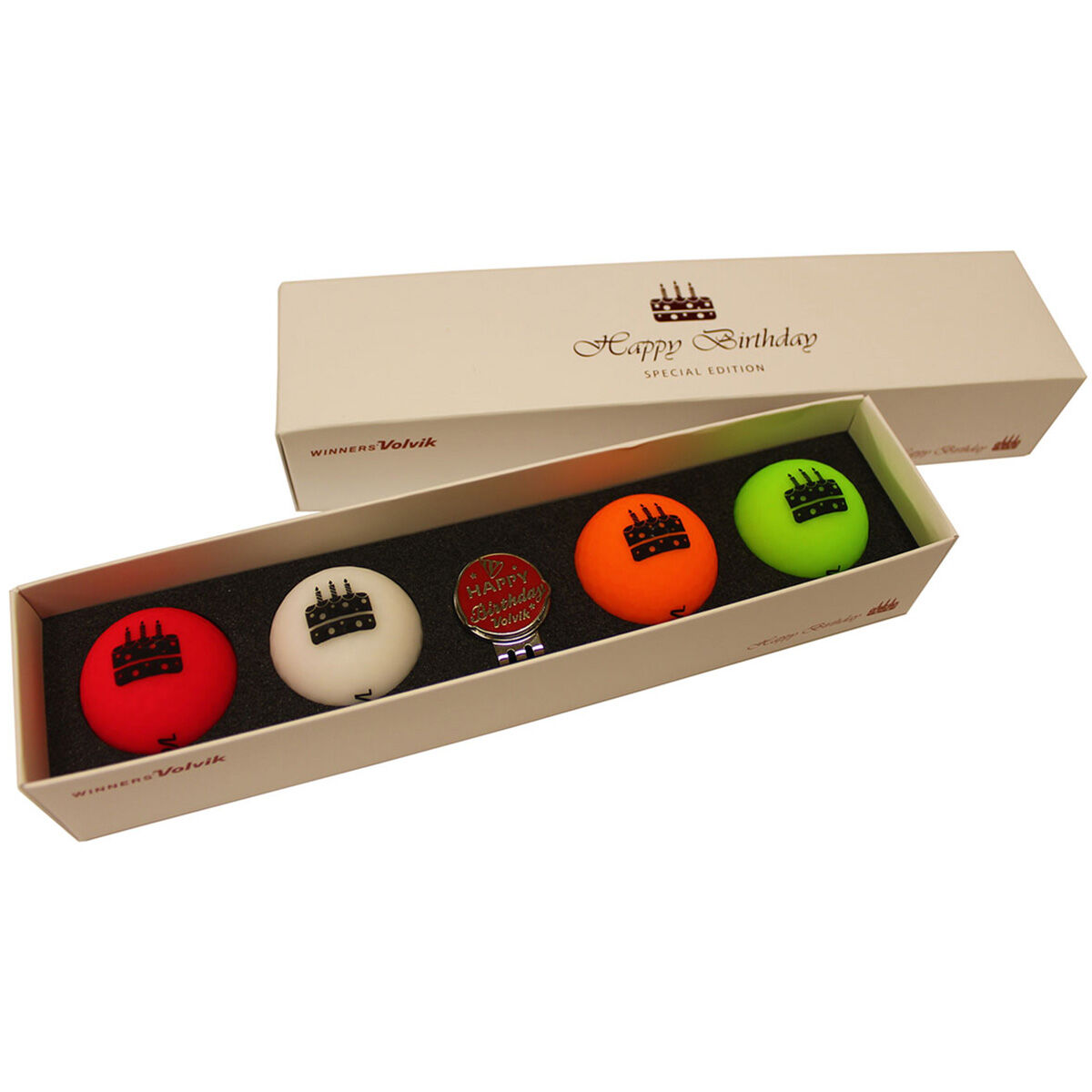 Volvik Vivid Special Edition Birthday 4 Ball Pack, Male, Assorted, One Size   American Golf