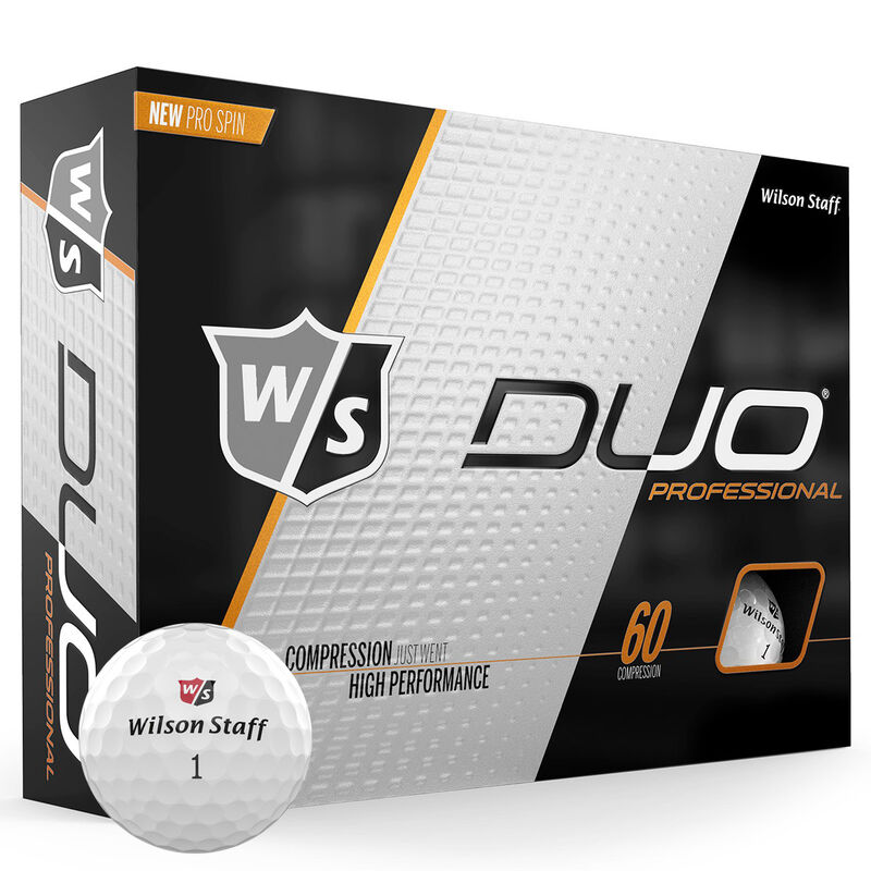 Wilson Staff DUO Professional 12 Ball Pack Male White