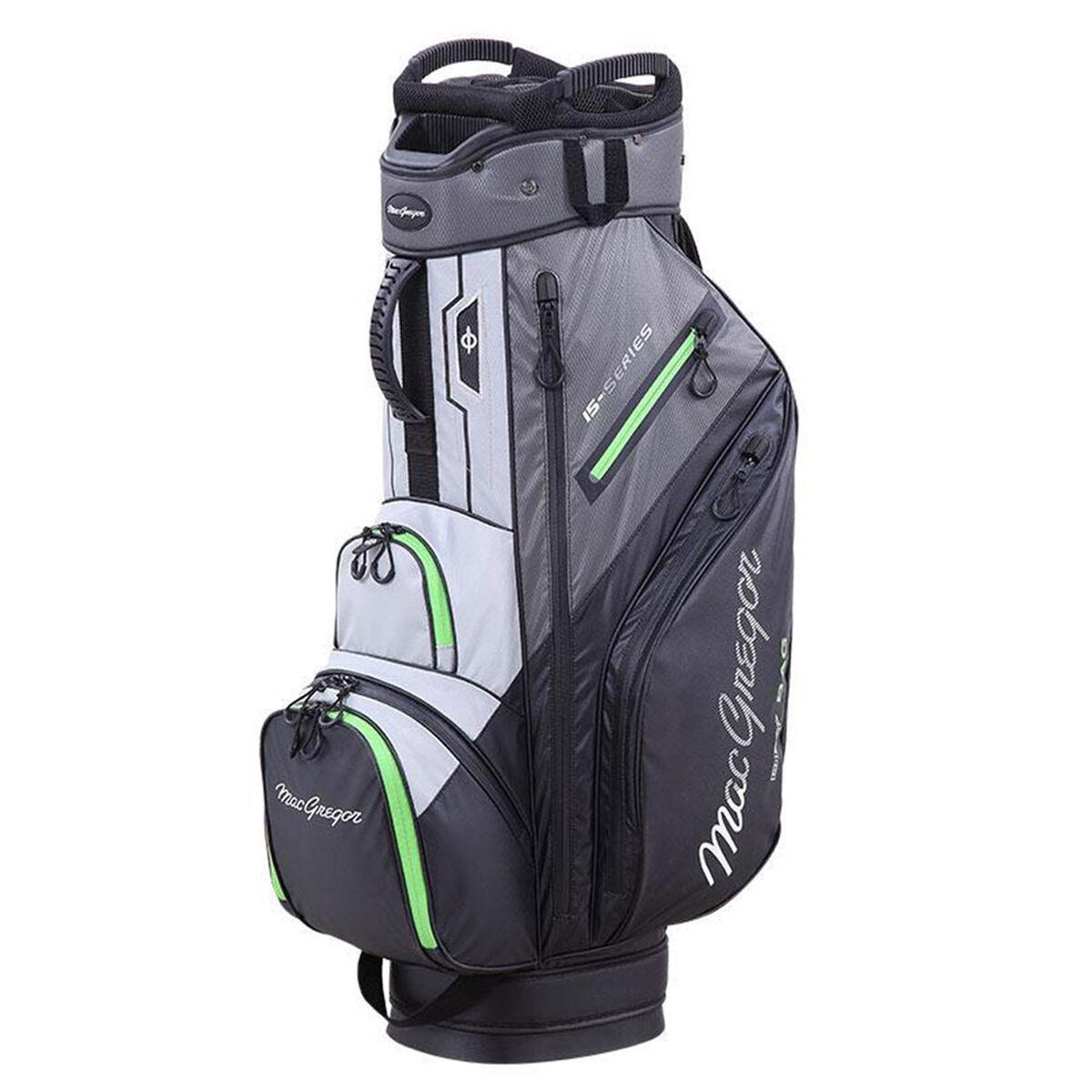 MacGregor 15-Series Water-Resistant Golf Cart Bag, Black/grey   American Golf