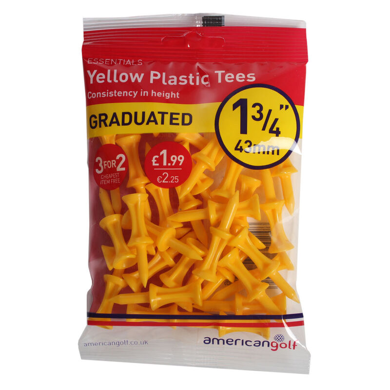 AG Essentials Graduated Yellow 43mm Plastic Tees Male Yellow