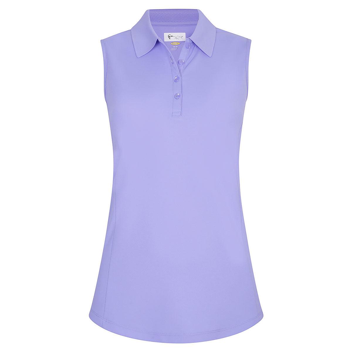 Greg Norman Apex Sleeveless Womens Golf Polo Shirt, Female, Large, Indigo   American Golf