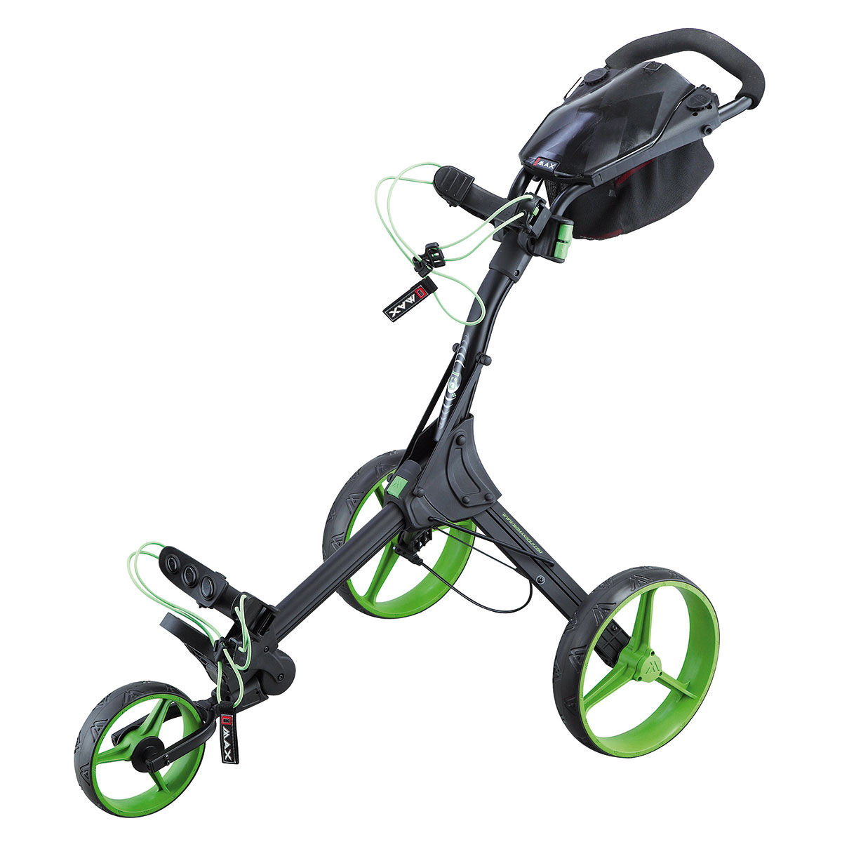 BIG MAX IQ+ Golf Trolley, Black/lime, One Size | American Golf