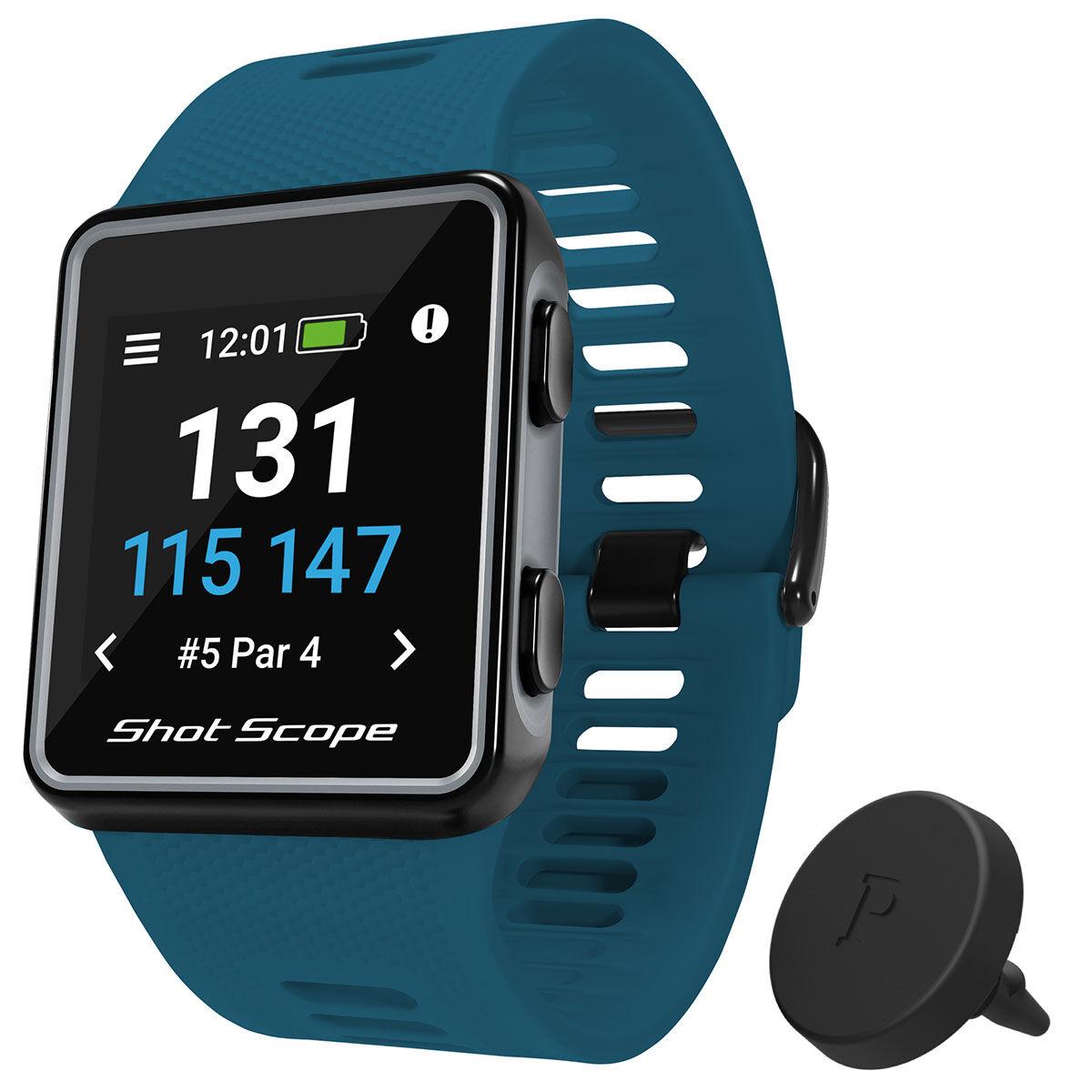 Shot Scope V3 Smart Golf GPS Watch, Male, Petrol, 135-210mm   American Golf
