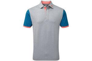FootJoy Pique Colour Block Trim Polo Shirt