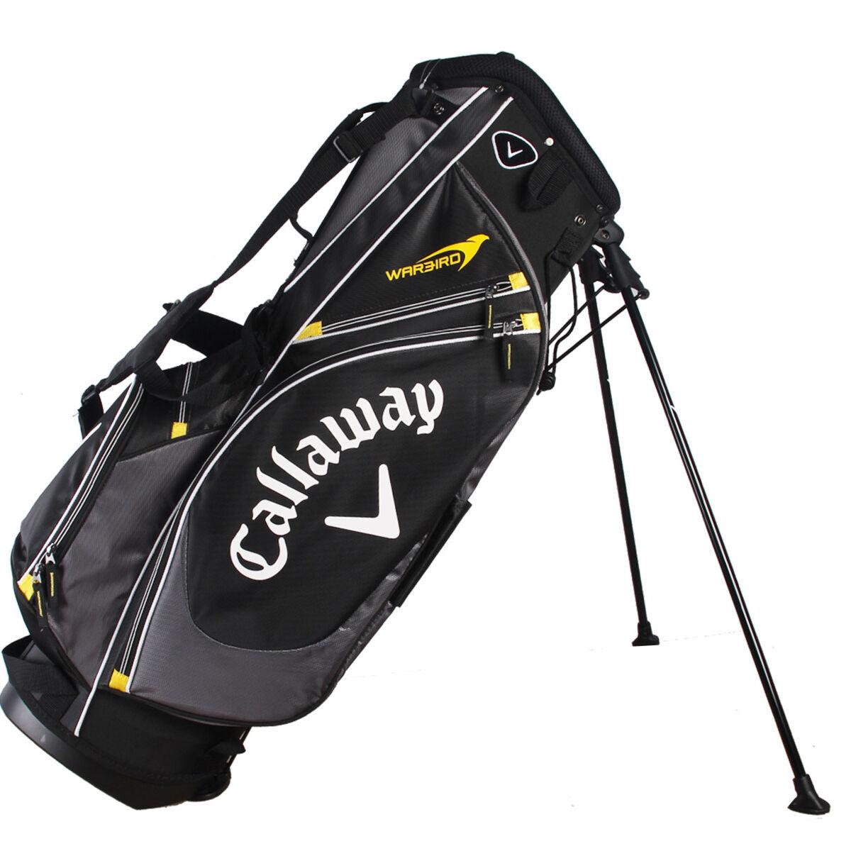 Callaway Golf Charcoal Black Lightweight Warbird Golf Stand Bag, One size   American Golf