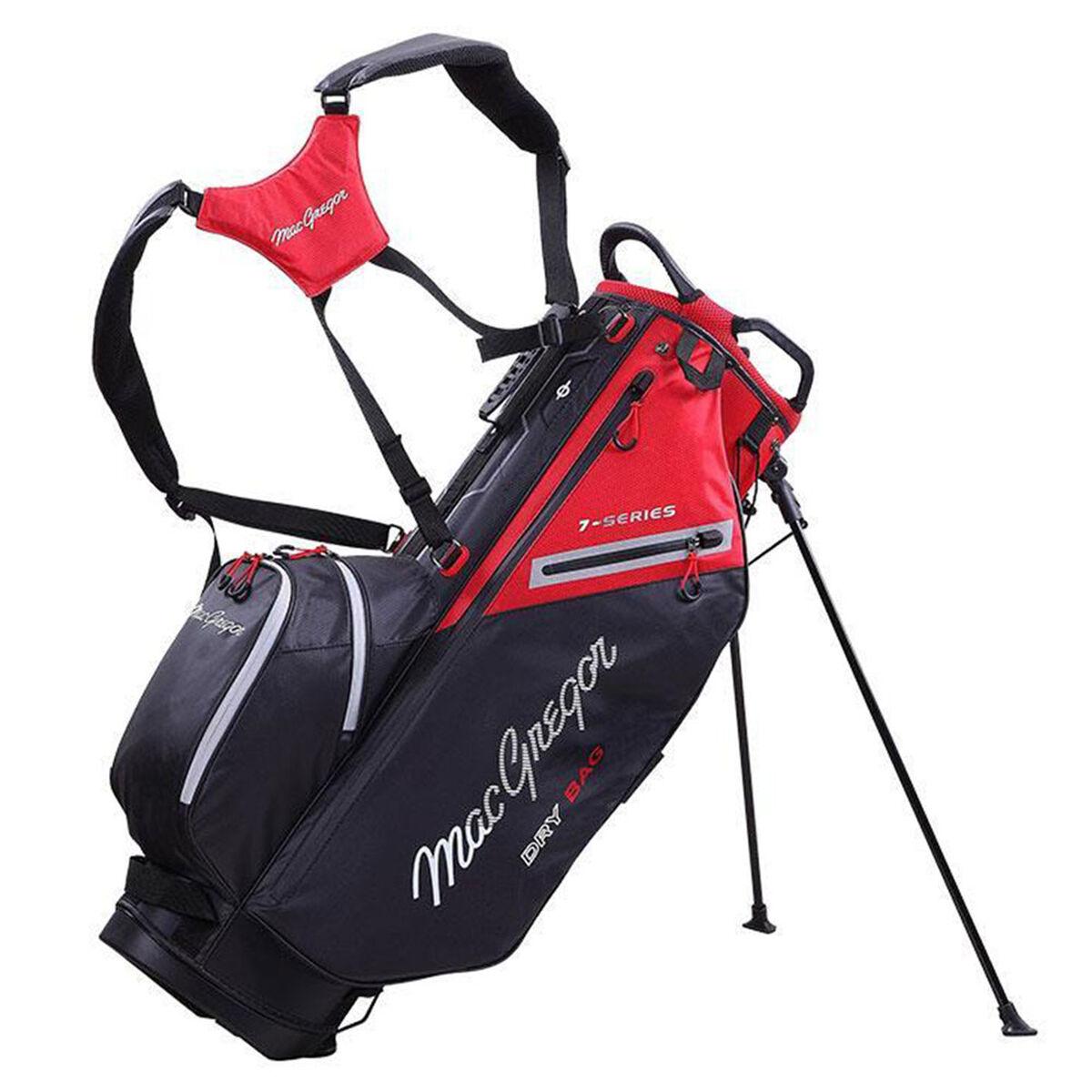 MacGregor 7-Series Water-Resistant Golf Stand Bag, Black red   American Golf