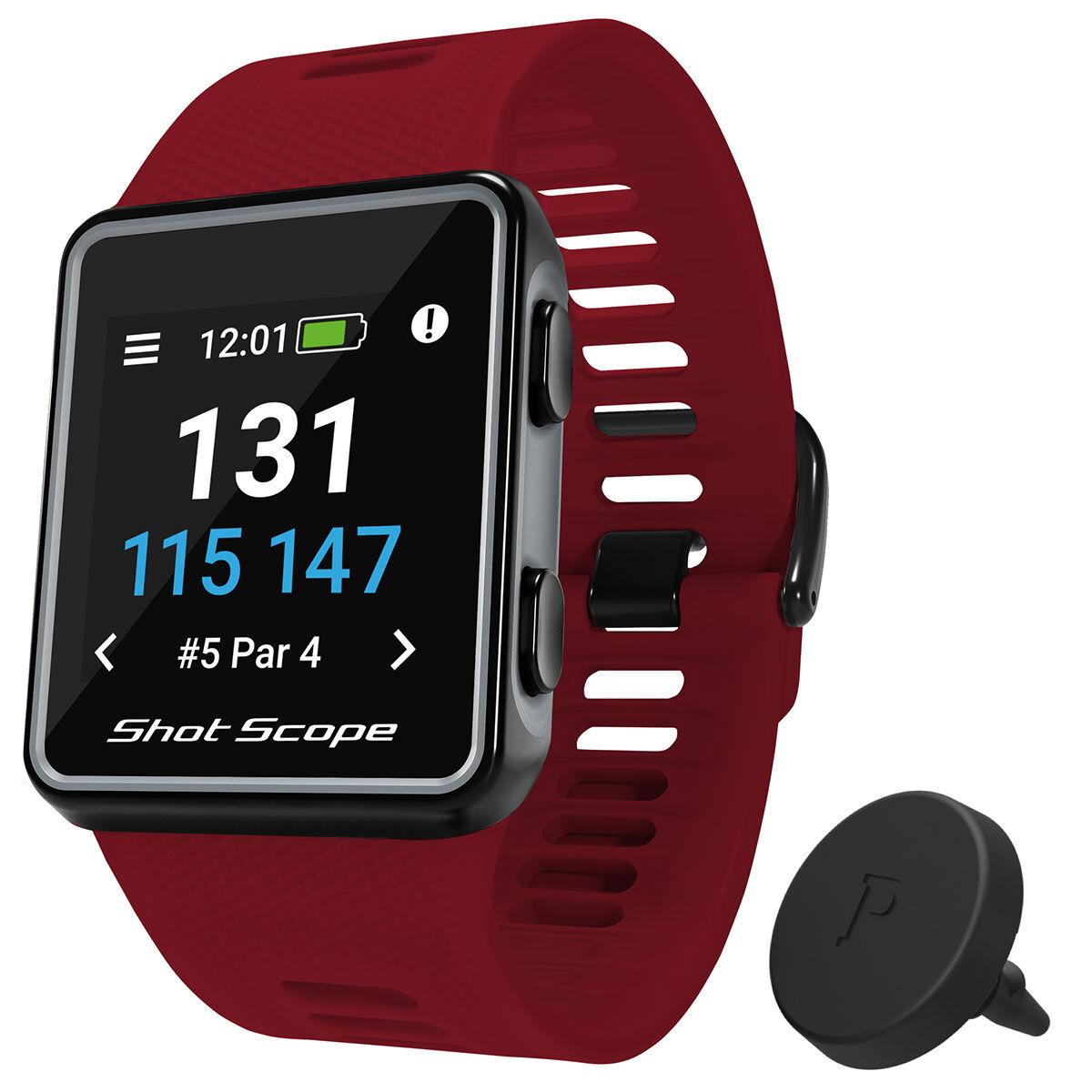 Shot Scope V3 Smart Golf GPS Watch, Male, Red, 135-210mm   American Golf