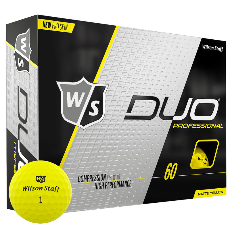 Wilson Staff DUO Professional 12 Ball Pack Male MATTE YELLOW